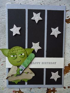Alarnee Creations by Sharnee Torrents: Just Add Ink challenge #241 {Yoda Punch art!}