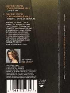 the 457 best shania twain cd cassette covers images on pinterest
