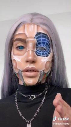 Dazed make-up artist Abby Roberts shows us how she makes her make-up TikToks. Edgy Makeup, Eye Makeup Art, Scary Makeup, Hair Makeup, Movie Makeup, Gothic Makeup, Makeup Eyes, Cool Makeup Looks, Cute Makeup