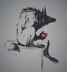 Art by Dygee Arte Horror, Horror Art, Fantasy Creatures, Mythical Creatures, Art Sketches, Art Drawings, Dessin Old School, Werewolf Art, Arte Obscura