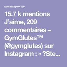15.7 k mentions J'aime, 209 commentaires – GymGlutes™ (@gymglutes) sur Instagram : « 🔸Step cardio workout🔸Save this & visit @GymSimplicity If you're new to fitness and looking for new… »