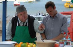 Bert and Al Large from Doc Martin.    ( Ian McNeice and Joe Absolom )