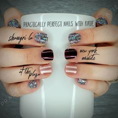 Color Street is Nail Polish Strips that can be applied in minutes with no tools and no dry time. This manicure includes: New York Minute, Shangri-La, & At the Plaza. Fancy Nails, Love Nails, Pink Nails, How To Do Nails, Pretty Nails, My Nails, Neon Nails, Matte Nails, Black Nails