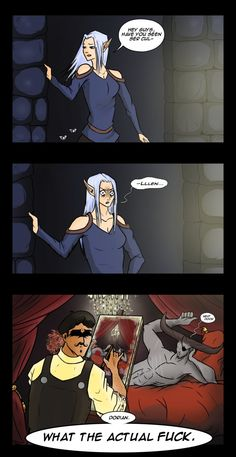 Dragon Age Comic - What the... by YukiSamui on deviantART<<<---- What do you mean this isn't canon?