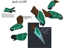 from Big Hero 6, final glove design for Wasabi