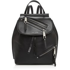 Marc Jacobs Zip Pack Small Leather Backpack (1.485 RON) ❤ liked on Polyvore featuring bags, backpacks, leather zip backpack, zip bag, zipper backpack, leather rucksack and marc jacobs