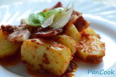 Pieczone ziemniaki z czerwonym pesto/Baked potatoes with red pesto