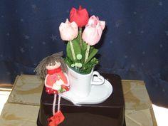 tulipas de tecido