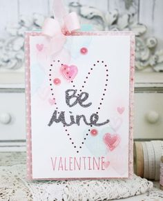 Be Mine Valentine Card by Melissa Phillips for Papertrey Ink (December 2015)