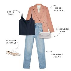 You don't have to go all in to wear the crazy fashion pieces trending for spring Instead, we styled the hardest to wear trends. Blazer With Jeans, Casual Jeans, Casual Sweaters, How To Wear Blazers, Olive Green Pants, How To Wear Leggings, Weird Fashion, Women's Fashion, Fashion Outfits