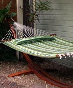 Amazon.com: Hammock Quilted Fabric Double Spreader Bar Button Pillow Hammock Stylish Design: Patio, Lawn & Garden