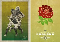 Posters to advertise the 2011 Rugby World Cup