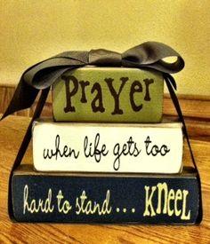 Wood Block Craft Idea - Prayer