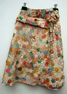 upcycled quilts, party skirt, spirited, happy, hand created