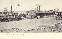 Scene Along The Ohio River - Louisville,Kentucky 1908