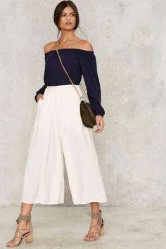 Hanover Linen Culottes - Wide Leg + Flare
