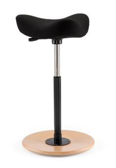 The stool I want for my standing desk, MOVE STOOL... has a convex base so it is unbalanced to keep you moving and muscles engaged.  LOVE!!!