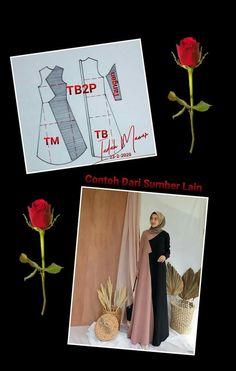 Barbie Sewing Patterns, Sewing Patterns Free, Clothing Patterns, Dress Muslim Modern, Abaya Pattern, Long Dress Patterns, Dress Design Sketches, Fashion Terms, Hijab Fashion Inspiration