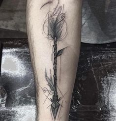 Artistic Arrow Tattoo by Frank Carrilho
