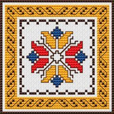 Folk Embroidery Patterns Floral motif and border inspired by the traditional Bulgarian embroidery. Creative Embroidery, Folk Embroidery, Cross Stitch Embroidery, Embroidery Patterns, Cross Stitch Patterns, Easter Cross, Vintage Cross Stitches, Embroidery Techniques, Christmas Journal