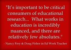 """Nancy Frey and Doug Fisher agreed to answer a few questions about the new book they co-authored with John Hattie, """"Visible Learning for Literacy, Grades K-12: Implementing the Practices That Work Best to Accelerate Student Learning."""""""