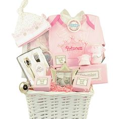 Baby Keepsake Gift Basket - Lil Princess - BunnyBerry