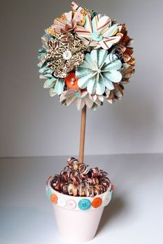 oooh these remind me of the gumball topiaries i did for J's bday party.. might need to make these for her next party! *LOVE*