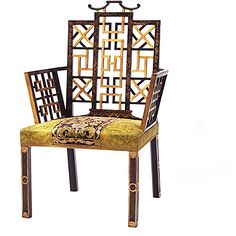 Chairs: From Chinese Chippendale to James Mont / Badminton Chair via Ann Getty Home / The English Room Blog
