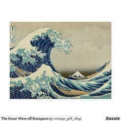 Carte Postale La grande vague outre de Kanagawa