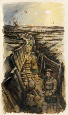British/Scottish  WW1  Gordons in the Trenches, by Eric Auld.