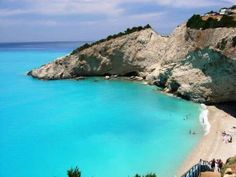 One of the most beautiful beaches I have ever seen the Island of Lefkada Greece! Most Romantic Places, Most Beautiful Beaches, Beautiful Places, Amazing Places, Dream Vacations, Vacation Spots, Places To Travel, Places To See, Corfu Island