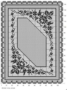 Here is a scheme for large tablecloth. The scheme is simple. It is good to start at the bottom of the scheme (the central works). Crochet Doily Diagram, Filet Crochet Charts, Crochet Doily Patterns, Thread Crochet, Crochet Motif, Crochet Designs, Crochet Doilies, Crochet Stitches, Knit Crochet