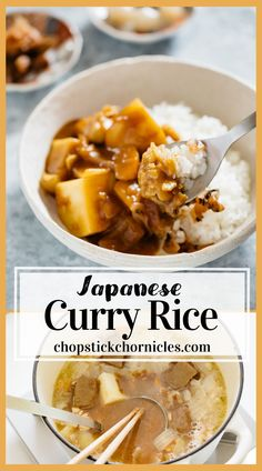 Japanese curry rice is an ever-popular and delicious Japanese take away food. This Japanese curry rice recipe is versatile. It can be made with different types of protein sources such as Beef, Chicken, Pork and Seafood. Also, any vegetables can be used. Japanese typically use curry roux to make curry. Learn how to make easy Japanese curry rice with my step by step recipe and video. #Japanesecurry #Curry #curryrice #Japanesetakeaway #Japanesecurryrecipe #Japanese #chicken #beef #Japaneserecipe Curry Recipes, Pork Recipes, Cooking Recipes, Asian Recipes, Asian Foods, Rice Recipes, Seafood Recipes, Chicken Recipes, Japanese Curry