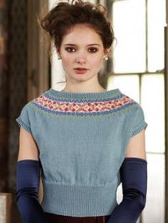 This gorgeous jumper has nordic detail and a deep rib and can be dressed up or dressed down. Designed by Marie Wallin it uses Pure Wool 4ply.