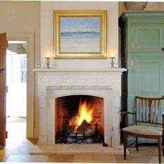 Bath limestone fireplace