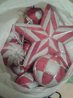 Adornos navideños. Patchwork sin aguja