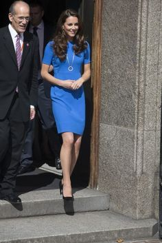 Catherine, Duchess of Cambridge arriving at the National Portrait Gallery