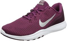 71c638b308606 NIKE Women s Flex TR 7 Training Shoe Tea Berry Metallic Silver Bordeaux Size  9.5