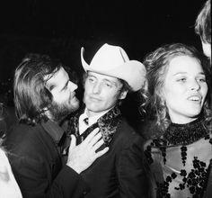 Jack Nicholson, Dennis Hopper and Michelle Phillips by  Unknown Artist