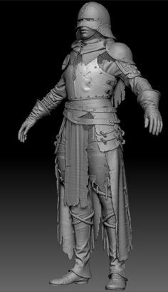 "Knight charater based on early concepts for game ""For Honor"" by Remko Troost. Character Modeling, Character Creation, 3d Character, Character Concept, Character Design, Zbrush Models, Fantasy City, Medieval Knight, Cleric"