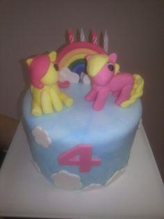 Little pony cake Little Pony Cake, Cake Ideas, Birthday Cake, Desserts, Food, Tailgate Desserts, Birthday Cakes, Meal, Dessert
