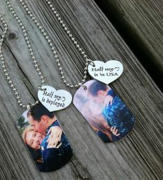 Personalized Couples Dog Tags Pair of Two by GreenStarAccessories, $30.00