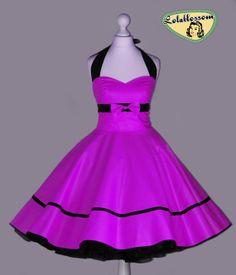 50er Jahre Vintage Kleid voller Rock Uni von Lolablossomclothing, $119.00