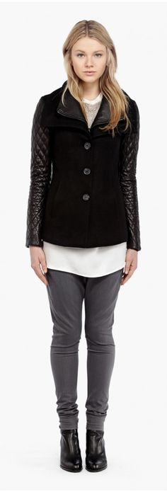 Soïa & Kyo Woollen Jacket - Vero in black | espace miX miX