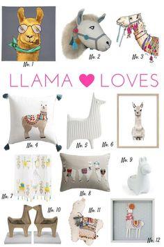 A round up of llama inspired home decor items Bedroom Themes, Nursery Themes, Girls Bedroom, Nursery Decor, Girl Nursery, Room Decor, Alpacas, Cute Llama, Llama Llama