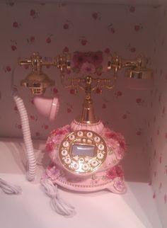 Antique pink phone.