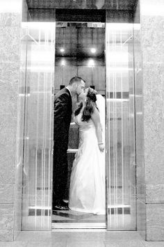 Grand exit elevator kiss Manda Koolis   Mandolin Productions {Wedding & Lifestyle Photography by Manda Koolis}: Alicia & Adam {MARRIED - Albuquerque, New Mexico Wedding Photography}
