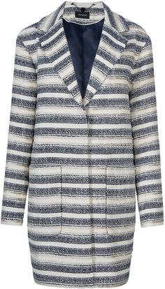 @marksandspencer #Autograph #Striped #Duster #Coat with #Buttonsafe