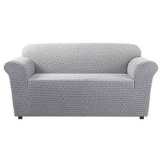Stretch Sonya Loveseat Slipcover - Birch/Timber (Brown/Timber) Sure Fit Loveseat Covers, Loveseat Slipcovers, Sofa, Couches, Black And Grey, Gray, Birch, Love Seat, Two By Two