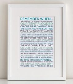 Create a personalized poster gift for your husband,  boyfriend or loved one